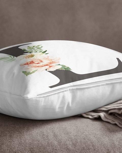 Minimalist Cushion Covers Obliečka na vankúš Minimalist Cushion Covers Floral Alphabet L, 45 x 45 cm