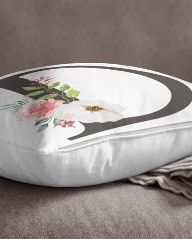 Obliečka na vankúš Minimalist Cushion Covers Floral Alphabet D, 45 x 45 cm