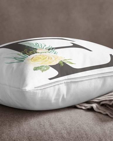 Obliečka na vankúš Minimalist Cushion Covers Floral Alphabet E, 45 x 45 cm