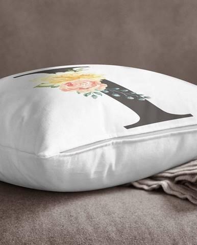 Obliečka na vankúš Minimalist Cushion Covers Floral Alphabet I, 45 x 45 cm