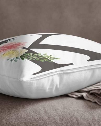 Obliečka na vankúš Minimalist Cushion Covers Floral Alphabet K, 45 x 45 cm