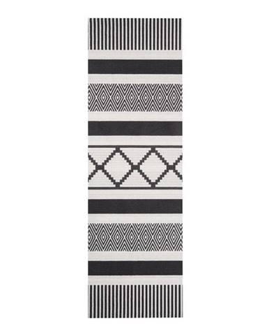 Čierno-sivý kuchynský behúň Zala Living Lineo, 45×140cm