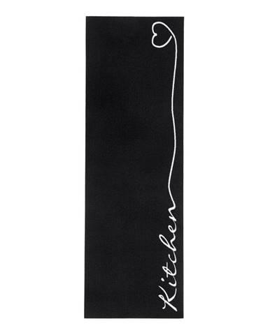 Čierny kuchynský koberec Hanse Home Kitchen, 50×150cm