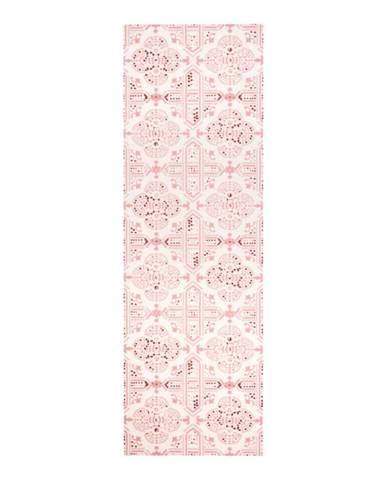 Ružový kuchynský behúň Zala Living Cook and Clean, 45×140cm