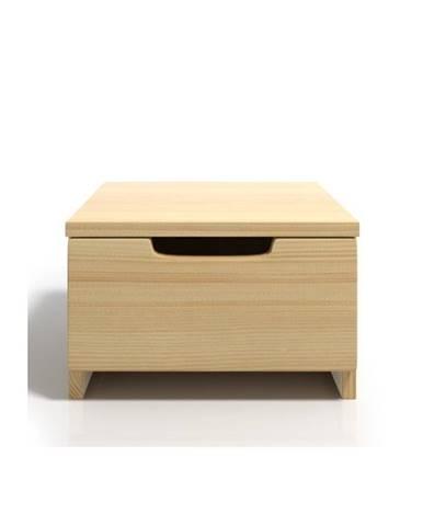 Nočný stolík z borovicového dreva sozásuvkou SKANDICA Spectrum