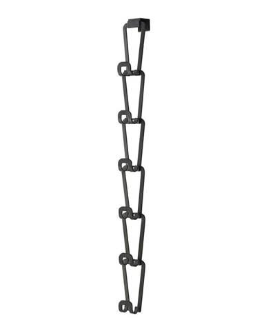Čierny vešiak na kabelky so zavesením na dvere a 6 háčikmi Yamazaki Kanazawa
