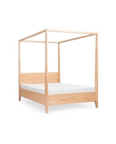 Dvojlôžková posteľ z masívneho bukového dreva SKANDICA Canopy, 160 x 200 cm