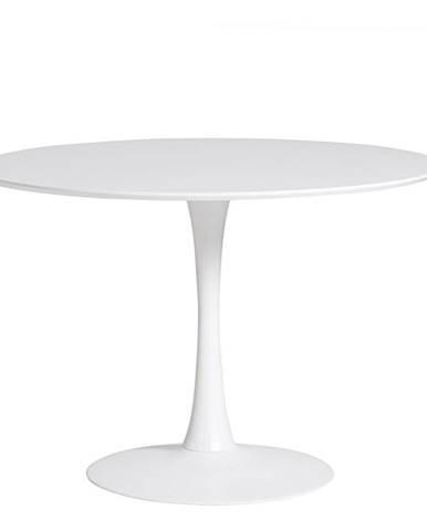 Okrúhly biely jedálenský stôl Marckeric Oda, ⌀ 110 cm