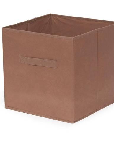 Hnedý skladací úložný box Compactor Foldable Cardboard Box