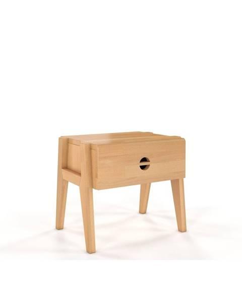 Skandica Nočný stolík z bukového dreva so zásuvkou Skandica Visby Radom