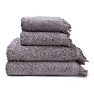 Sada 2 sivých uterákov a 2 osušiek zo 100% bavlny Bonami, 50 × 90 + 70 × 140 cm