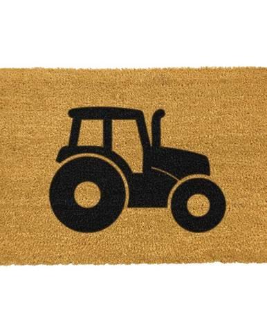 Rohožka z prírodného kokosového vlákna Artsy Doormats Tractor, 40 x 60 cm