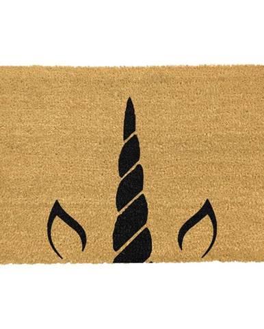 Rohožka z prírodného kokosového vlákna Artsy Doormats Unicorn Horn, 40 x 60 cm