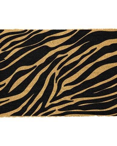 Rohožka z prírodného kokosového vlákna Artsy Doormats Zebra, 40 x 60 cm
