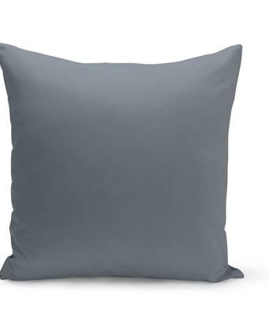 Sivomodrý vankúš s výplňou Lisa, 43×43 cm