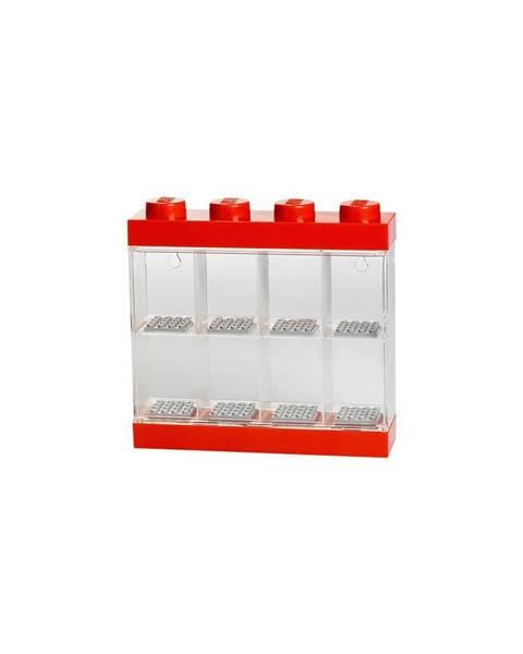 LEGO® Červeno-biela zberateľská skrinka na 8 minifigúrok LEGO®