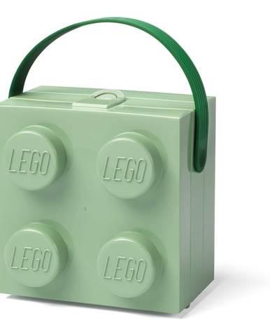 Svetlozelený úložný box s rukoväťou LEGO®
