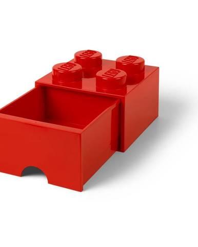 Červený úložný box so zásuvkou LEGO®