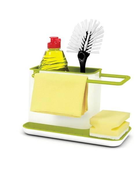 Joseph Joseph Bielo-zelený kuchynský stojan na umývacie prostriedky Joseph Joseph Caddy Sink Tidy