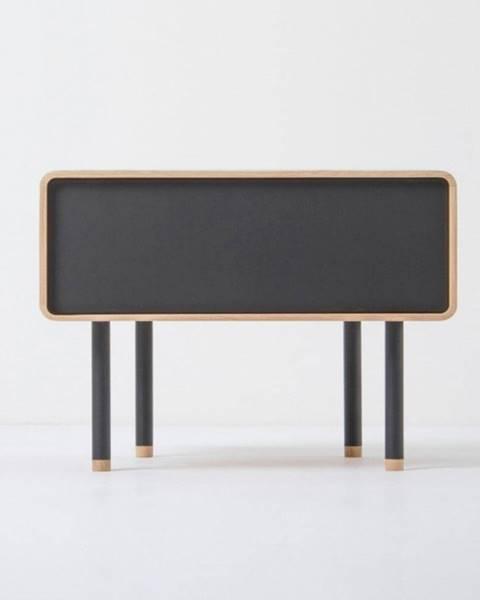 Gazzda Nočný stolík z dubového dreva s čiernou zásuvkou Gazzda Fina