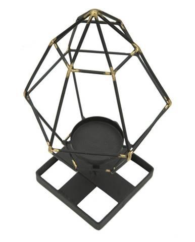 Čierny svietnik zo železa Mauro Ferretti Piramida