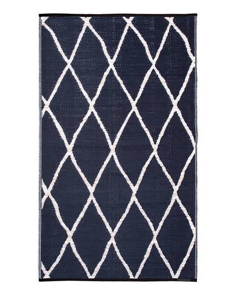 Fab Hab Modro-béžový obojstranný vonkajší koberec z recyklovaného plastu Fab Hab Nairobi Natural & Black, 120 x 180 cm