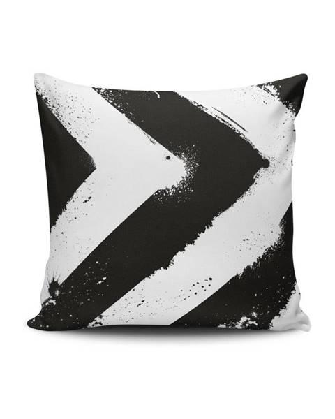 Cushion Love Čierno-biela obliečka na vankúš Calento Tassa, 45×45 cm