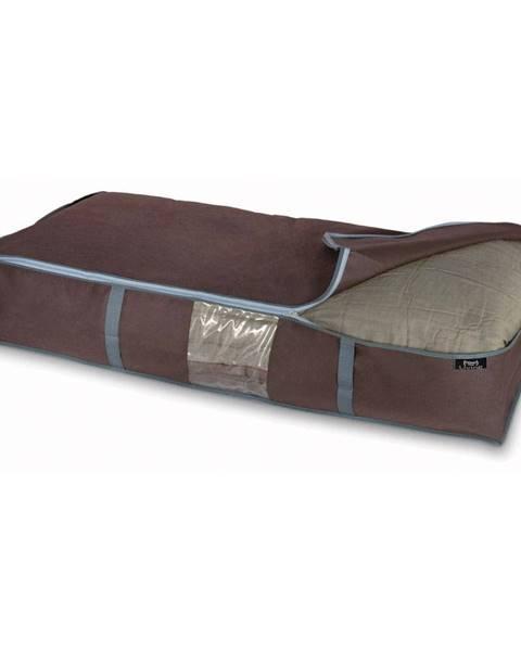 Domopak Hnedý úložný box na periny Domopak Living, 18 x 45 cm