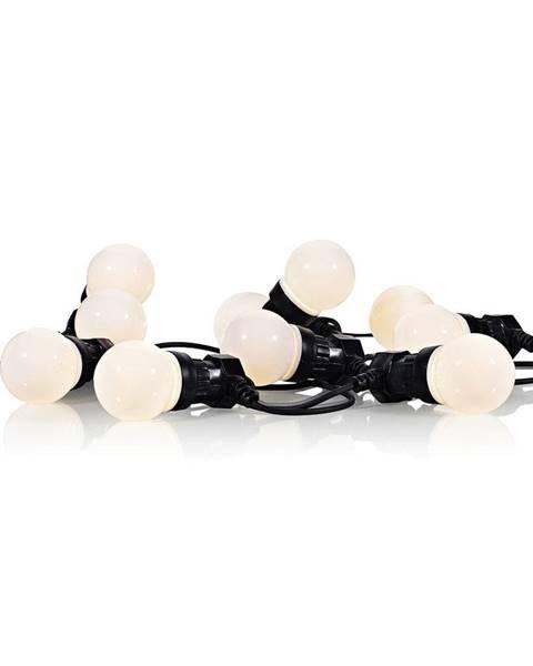 Markslöjd Čierna svetelná LED reťaz Markslöjd Darke Black, 10svetielok, dĺžka 7,5 m