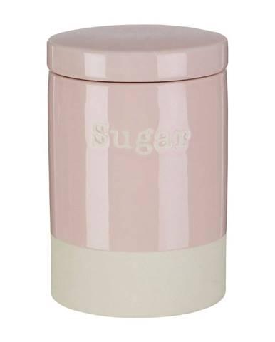 Ružová kameninová dóza na cukor Premier Housewares, 616 ml