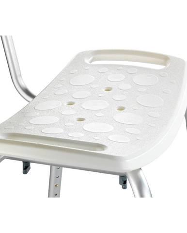 Sedacia stolička s operadlom do sprchy Wenko Stool With Back, 54×49 cm