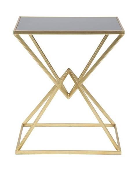 Mauro Ferretti Odkládací stolík so železnou konštrukciou v zlatej farbe Mauro Ferretti Cleopatra, 46 x 57 cm