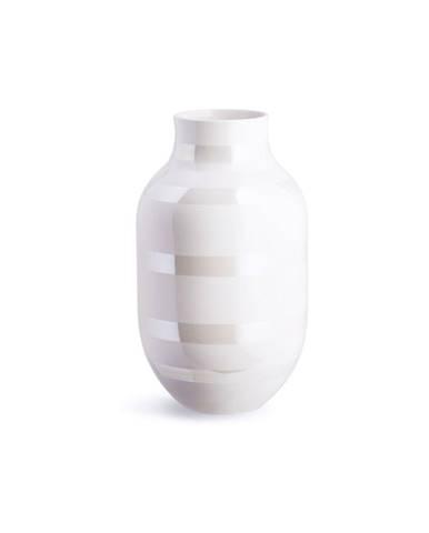 Biela kameninová váza Kähler Design Omaggio, výška 30,5 cm