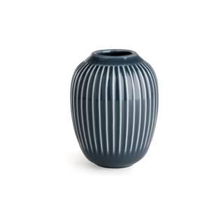 Antracitovosivá kameninová váza Kähler Design Hammershoi, výška 10 cm
