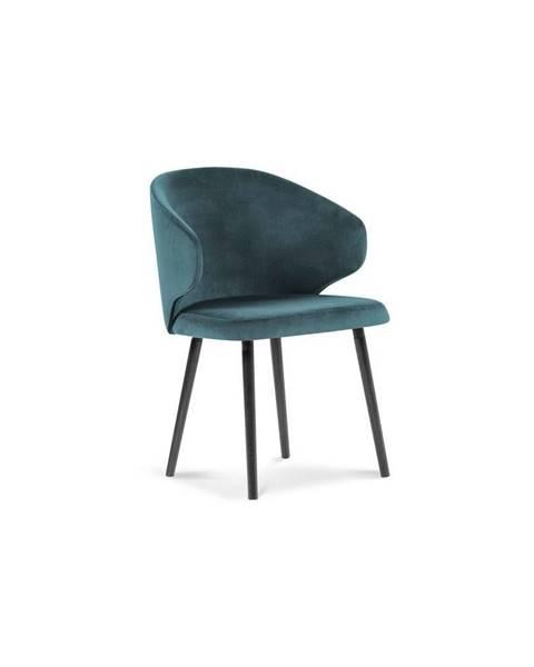 Windsor & Co Sofas Petrolejovomodrá jedálenská stolička so zamatovým poťahom Windsor & Co Sofas Nemesis
