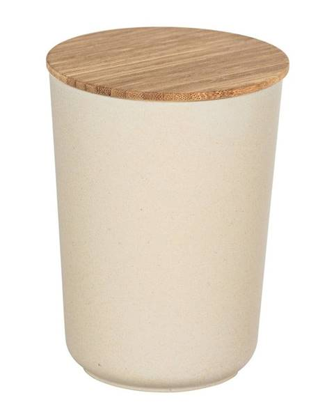 Wenko Béžový úložný box s bambusovým vekom Wenko Bondy, 700 ml