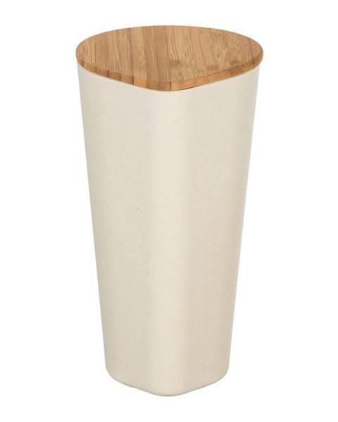 Wenko Béžový úložný box s bambusovým vekom Wenko Derry, 1 l