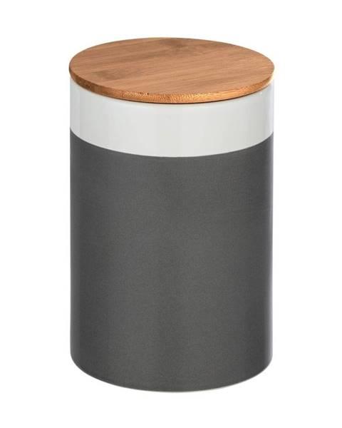 Wenko Keramický úložný box s bambusovým vekom Wenko Malta, 1,45 l