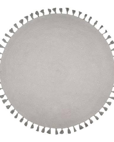 Sivý ručne tkaný koberec Nattiot Josephine, ∅140cm