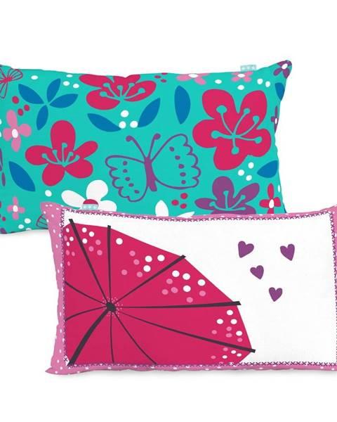 Moshi Moshi Bavlnená obojstranná obliečka na vankúš Moshi Moshi Cherry Blossom, 50×30cm