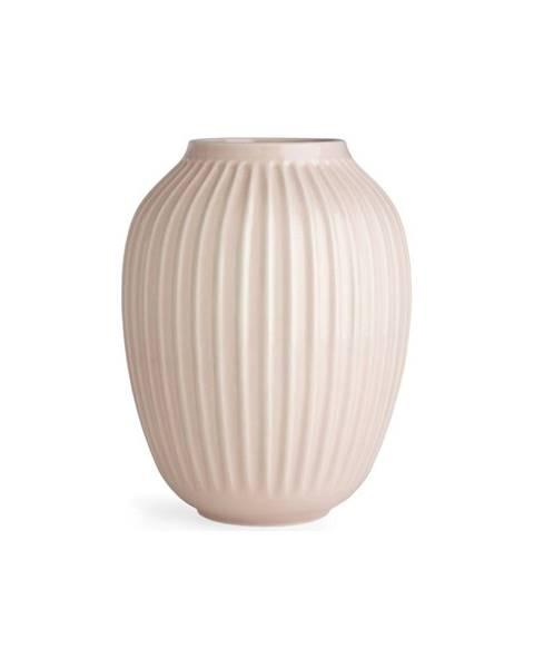Kähler Design Svetloružová kameninová váza Kähler Design Hammershoi, výška 25 cm