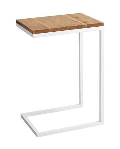 Odkladací stolík s bielou konštrukciou Custom Form Lupe