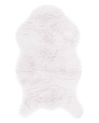Biela umelá kožušina Tiseco Home Studio Sheepskin, 80 × 150 cm