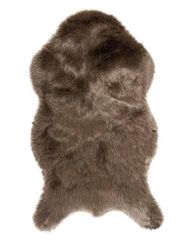 Tmavohnedá umelá kožušina Tiseco Home Studio Sheepskin, 80 × 150 cm
