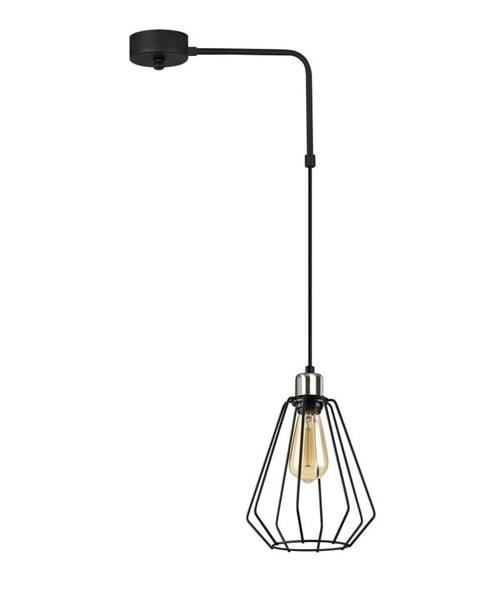 Opviq lights Čierne kovové závesné svietidlo Opviq lights Zach