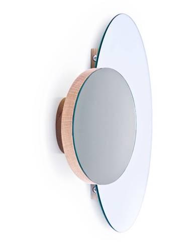 Nástenné dvojité zrkadlo z dubového dreva Wireworks Mezza