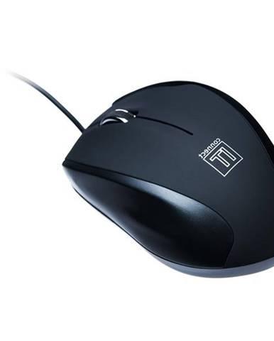 Myš  Connect IT CI-77 + podložka čierna / optická / 3 tlačítka /