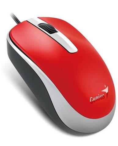 Myš  Genius DX-120 červená / optická / 3 tlačítka / 1200dpi