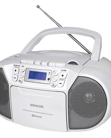 Rádiomagnetofón s CD Sencor SPT 3907 W biely