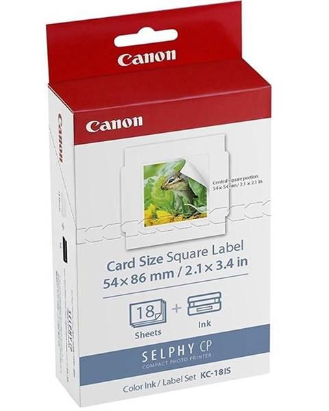 Canon Fotopapier Canon KC-18IS, 54x54 mm, 18 ks + inkoust pro Selphy
